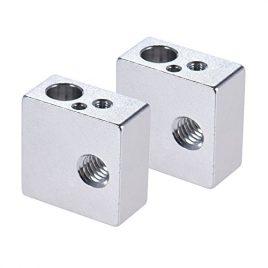 aibecy Bloc thermique en aluminium pour MK7/MK8extrudeuse Reprap Prusa i3bricolage imprimante 3d imprimé à chaud, Aluminum Heater Block All-Metal 20* 20* 10mm (1Pcs)