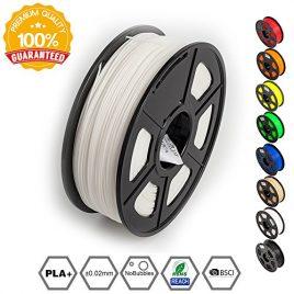 SUNLU 3D Printer Filament PLA Plus White,PLA Plus Filament 1.75 mm, Low Odor Dimensional Accuracy +/- 0.02 mm 3D Printing Filament,2.2 LBS (1KG) Spool,White