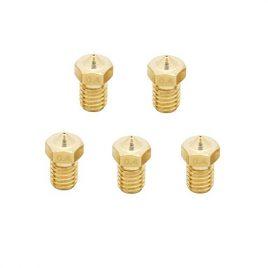 Anycubic 0,4mm Brass Buse Imprimante 3D Extrudeuse pour Chef M6 Mâle 1,75mm ABS et PLA Filetés Filament 5pcs Compatibles
