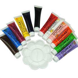 Mode Galerie 12 Couleur Acrylique UV Gel Design 3D Peinture Tube avec 1 Palette de Peinture Nail Art Stylo Faux Ongle Cnseils Vernis Dessin