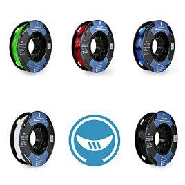 SainSmart 5Packs Petite bobine Filament 1.75mm TPU Flexible 250g 3D par Spool, Shore 95A, blanc, noir, rouge, bleu, vert