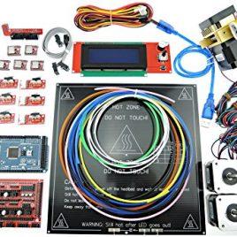 Sintron Electronics Kit complet, imprimante 3d Rampes 1.4+ Mega 2560+ MK3+ Lit la chaleur + Lcd2004+ moteur pas à pas + MK8extrudeuse + A4988pilote de moteur pas à pas + Endstop pour RepRap DIY Prusa i3Kossel