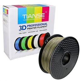 TIANSE Imprimante 3D Filament PLA 1.75 mm 1KG, Bronze
